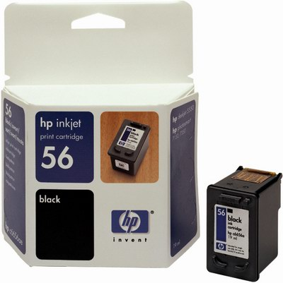 HP C6656AE Ink Cart No.56 pro DJ 5550, PS 7x50, 7x60, 19ml, Black