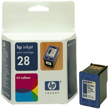 HP C8728AE Ink Cart No.28 pro DJ 3325, 3420, 3550,3650, 8ml, Color