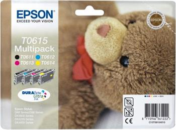 EPSON cartridge T0615 (black/cyan/magenta/yellow) multipack (medvídek)