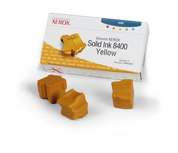 Xerox Genuine Solid Ink 8400 Yellow (Three Sticks)