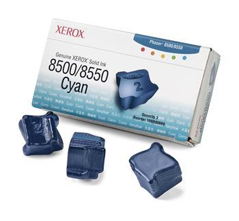 Xerox-Genuine Solid Ink 8500/8550 Cyan (3 sticks)