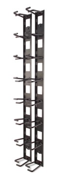 Vertical Cable Organizer, 8 Cable Rings, Zero U (AR8442)