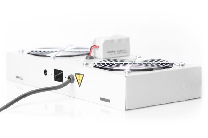 Digitus stropní ventilátor pro nástěnné skříně ,2vent., Vyp.,Termostat