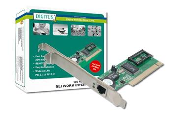 Digitus Fast Ethernet PCI Card 10/100Mbit Realtek WOL
