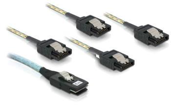 Delock kabel SAS mini 36-pin / 4x SATA metall 50 cm