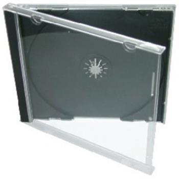 COVER IT Krabička na 1x CD - černá - normal, jewelbox