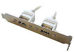 USB přídavné porty GEMBIRD 2x pro MB 25 cm